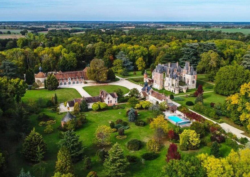 Château de Courcelles le Roy: a sumptuous place to celebrate your special day